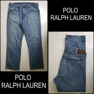 Polo Ralph Lauren Men Denim Blue Straight Jeans 38